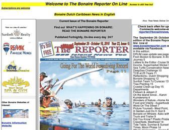 bonairereporter.com screenshot