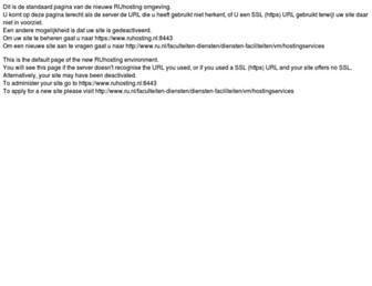 Main page screenshot of ruhosting.nl
