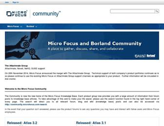 community.microfocus.com screenshot