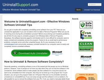 uninstallsupport.com screenshot