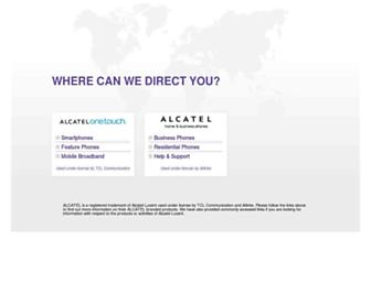 alcatel.com screenshot