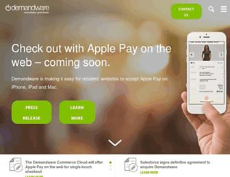 demandware.com screenshot