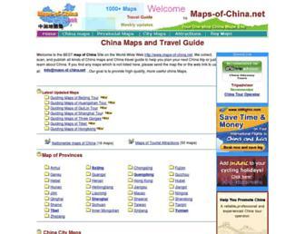 Main page screenshot of maps-of-china.net