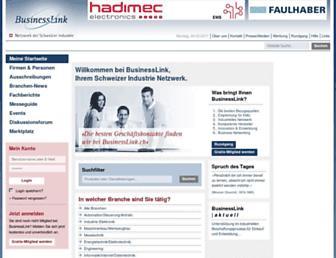 Main page screenshot of businesslink.ch