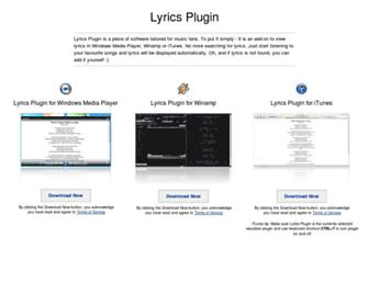 lyricsplugin.com screenshot