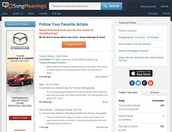 Thumbshot of Songmeanings.com