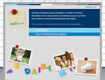Main page screenshot of milk.co.uk
