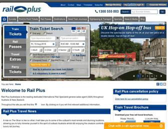 railplus.com.au screenshot