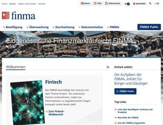 finma.ch screenshot