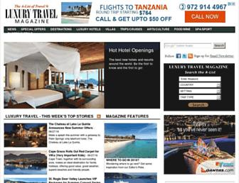 luxurytravelmagazine.com screenshot
