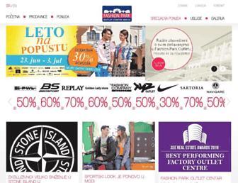 fashionparkoutlet.rs screenshot