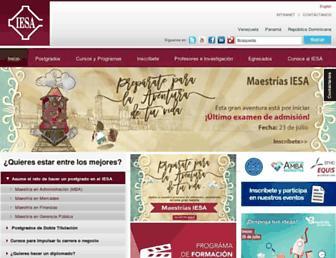 Main page screenshot of iesa.edu.ve