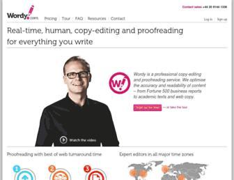 wordy.com screenshot