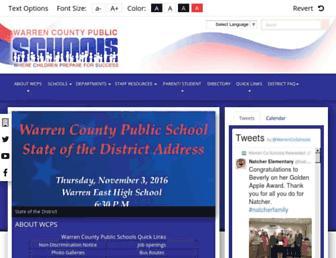 warrencountyschools.org screenshot