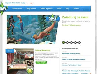 pl.thesims3.com screenshot
