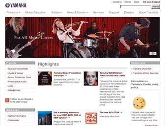 uk.yamaha.com screenshot