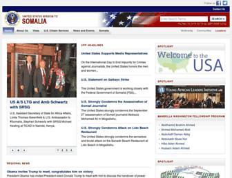 Main page screenshot of somalia.usvpp.gov