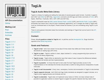 taglib.org screenshot