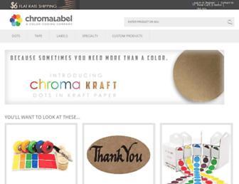 chromalabel.com screenshot
