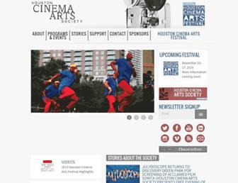 Main page screenshot of cinemartsociety.org