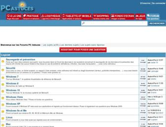 forum.pcastuces.com screenshot
