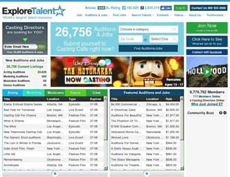exploretalent.com screenshot