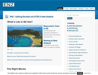 Main page screenshot of emigratenz.org
