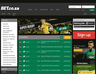 bet.co.za screenshot
