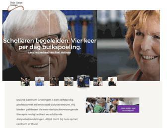 Main page screenshot of dcg.nl
