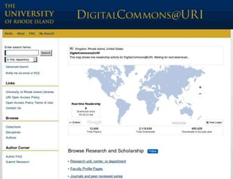 digitalcommons.uri.edu screenshot
