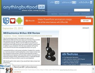 anythingbutipod.com screenshot