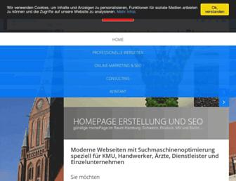 Main page screenshot of nordmarketing.eu