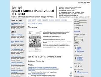 nirmana.petra.ac.id screenshot