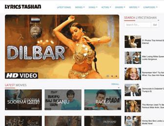 lyricstashan.com screenshot