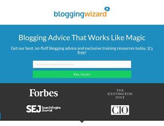 bloggingwizard.com screenshot