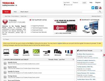 forum.toshiba.eu screenshot