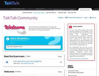 community.talktalk.co.uk screenshot