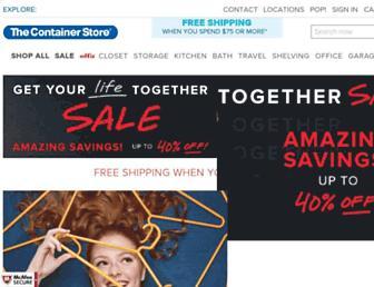 containerstore.com screenshot