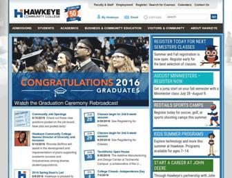 hawkeyecollege.edu screenshot