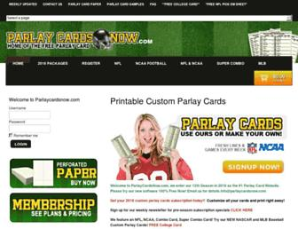 parlaycardsnow.com screenshot