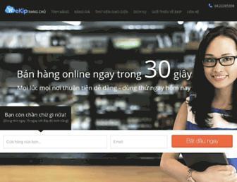 Main page screenshot of ekip.vn