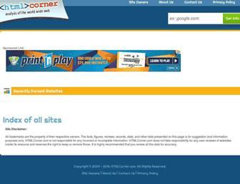 htmlcorner.com screenshot