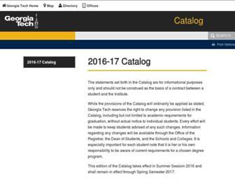 catalog.gatech.edu screenshot