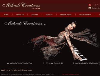 mehndicreations.com screenshot