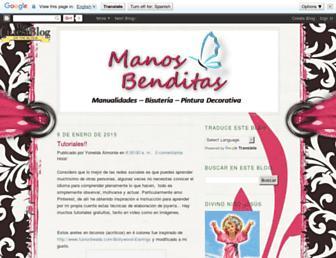 manosbenditas.blogspot.com screenshot