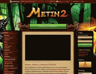 Main page screenshot of metin2.pl
