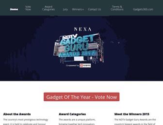 awards.gadgets.ndtv.com screenshot
