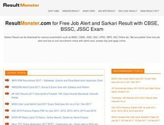 resultmonster.com screenshot