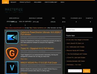 mazterize.com screenshot