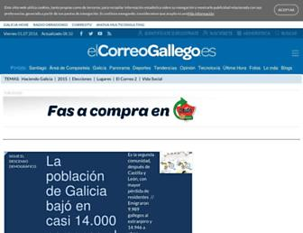Main page screenshot of elcorreogallego.es